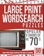 Large Print Wordsearches Puzzles Popular TV Shows of the 70s