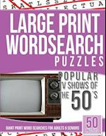 Large Print Wordsearches Puzzles Popular TV Shows of the 50s
