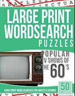 Large Print Wordsearches Puzzles Popular TV Shows of the 60s