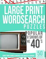 Large Print Wordsearches Puzzles Popular TV Shows of the 40s