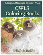 Owls Coloring Book Vol.1 Coloring Books for Grown-Ups for Relaxation 40 Drawin