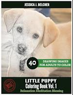 Little Puppy Coloring Book for Adults Relaxation Vol.1 Meditation Blessing