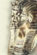 Gold Tutankhamun Egyptian Pharaoh Illustration Art Journal