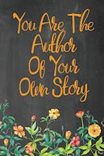 Chalkboard Journal - You Are the Author of Your Own Story (Pumpkin Orange)