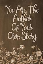 Chalkboard Journal - You Are the Author of Your Own Story (Brown)