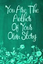 Chalkboard Journal - You Are the Author of Your Own Story (Green)
