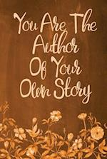 Chalkboard Journal - You Are the Author of Your Own Story (Orange)
