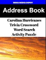 Address Book Carolina Hurricanes Trivia Crossword & Wordsearch Activity Puzzle