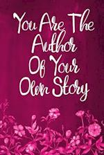 Chalkboard Journal - You Are the Author of Your Own Story (Pink-White)