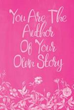 Pastel Chalkboard Journal - You Are the Author of Your Own Story (Pink)