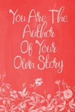 Pastel Chalkboard Journal - You Are the Author of Your Own Story (Red)