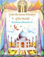 Color the Seven Wonders of the World!