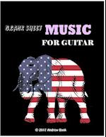 Blank Sheet Music for Guitar Andrew Book