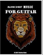 Blank Sheet Music for Guitar