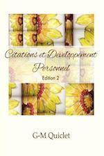 Citations Et Developpement Personnel -Edition 2
