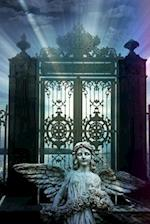 An Angel Sculpture in Front of Heaven's Gate Journal