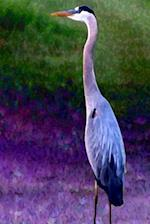 Journal Blue Heron Wildlife Painting