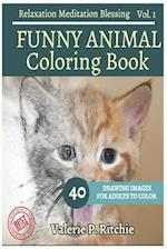 Funny Animal Coloring Book Vol.1 for Grown-Ups for Relaxation