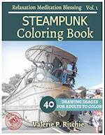 Steampunk Coloring Book Vol.1 for Grown-Ups for Relaxation