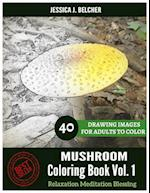 Mushroom Coloring Book for Adults Relaxation Vol.1 Meditation Blessing