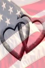 Journal American Flag Intertwined Hearts