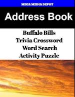 Address Book Buffalo Bills Trivia Crossword & Wordsearch Activity Puzzle