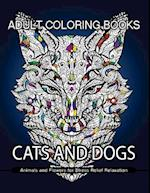 Adult Coloring Books Cats and Dogs