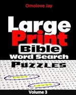 Large Print Bible Word Search Puzzle Vol 3!