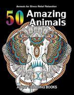 50 Amazing Animals Adult Coloring Books
