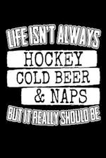 Life Isn't Always Hockey Cold Beer & Naps But It Really Should Be