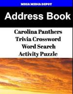 Address Book Carolina Panthers Trivia Crossword & Wordsearch Activity Puzzle