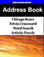 Address Book Chicago Bears Trivia Crossword & Wordsearch Activity Puzzle