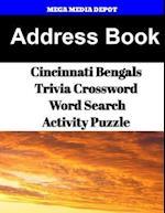 Address Book Cincinnati Bengals Trivia Crossword & Wordsearch Activity Puzzle