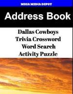 Address Book Dallas Cowboys Trivia Crossword & Wordsearch Activity Puzzle