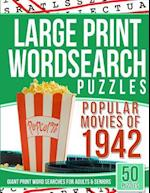 Large Print Wordsearches Puzzles Popular Movies of 1942