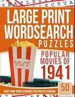 Large Print Wordsearches Puzzles Popular Movies of 1941
