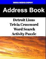 Address Book Detroit Lions Trivia Crossword & Wordsearch Activity Puzzle