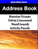 Address Book Houston Texans Trivia Crossword & Wordsearch Activity Puzzle