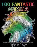 100 Fantastic Animals Adult Coloring Books