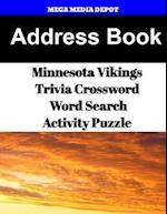 Address Book Minnesota Vikings Trivia Crossword & Wordsearch Activity Puzzle