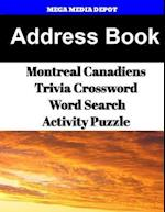 Address Book Montreal Canadiens Trivia Crossword & Wordsearch Activity Puzzle