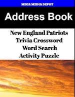 Address Book New England Patriots Trivia Crossword & Wordsearch Activity Puzzle