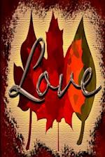 Wedding Journal Love Fall Foliage