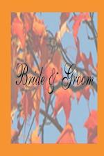 Wedding Journal Bride Groom Fall Foliage