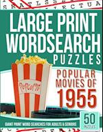 Large Print Wordsearches Puzzles Popular Movies of 1955