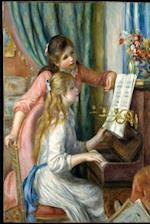 Two Young Girls at Piano Renoir 1892 Journal
