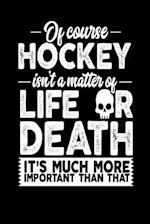 Of Course Hockey Isn't a Matter of Life or Death It's Much More