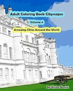 Adult Coloring Book Cityscapes Volume 4