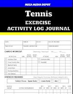 Tennis Exercise Activity Log Journal
