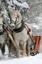 Two Horses Pulling a Sleigh in the Winter Journal